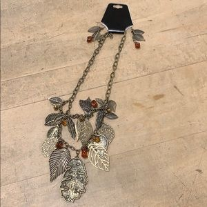 Leaf Necklace & Earrings